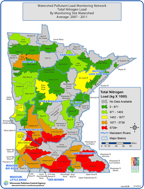 WPLMN Total Nitrogen Load Map