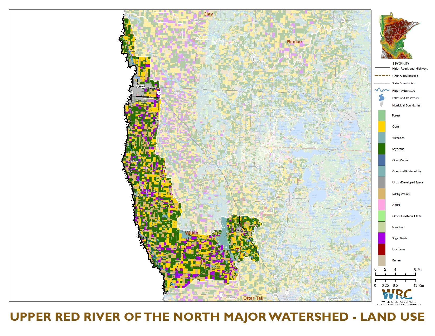 ecoregions in minnesota Lakes in the western corn belt plains ecoregion (southern minnesota) tend to have higher phosphorus and algae concentrations due to the fertile black soil, agriculture and the minnesota river valley.