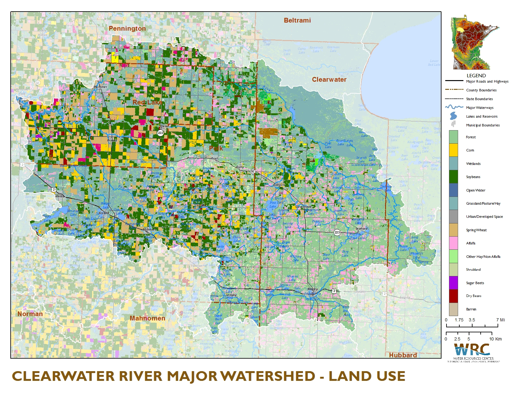 Clearwater River Watershed | Minnesota Nutrient Data Portal on