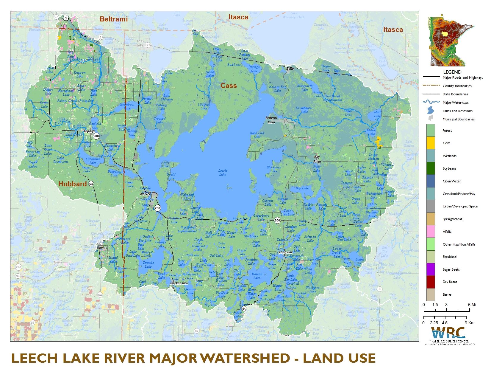 Leech lake river watershed minnesota nutrient data portal source watershed crop data layer from the national agricultural statistics service nass 2013 most lands within the leech lake sciox Image collections
