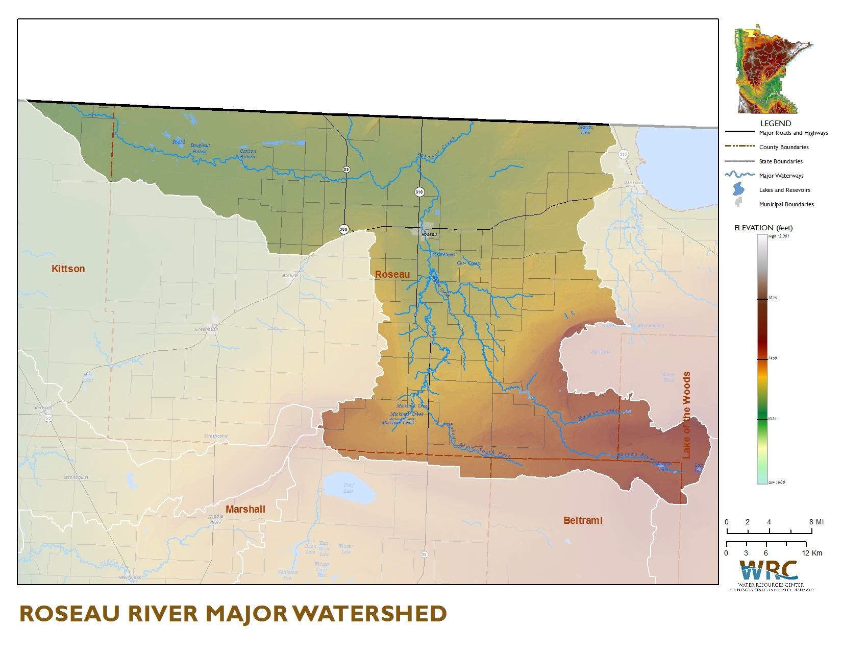 Roseau River Watershed Minnesota Nutrient Data Portal