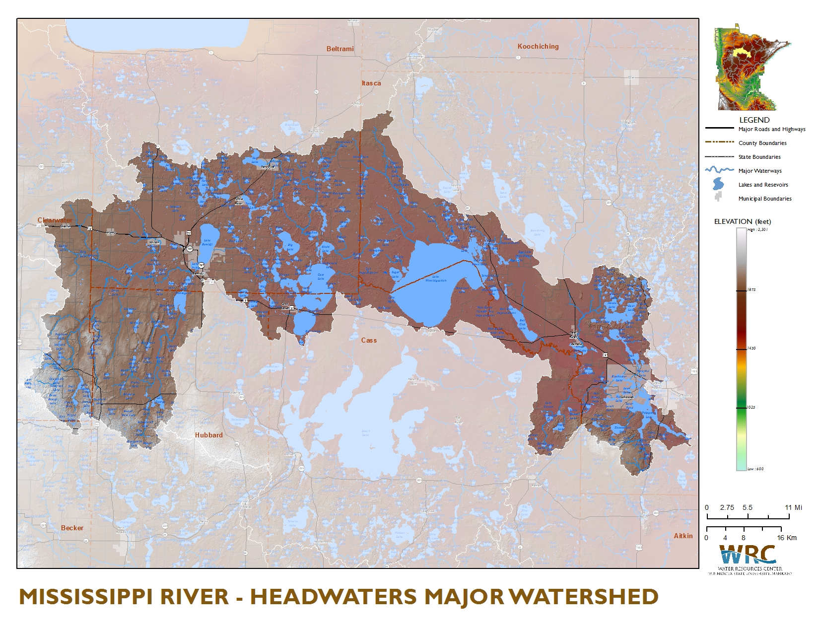 Mississippi River  Headwaters  Minnesota Nutrient Data