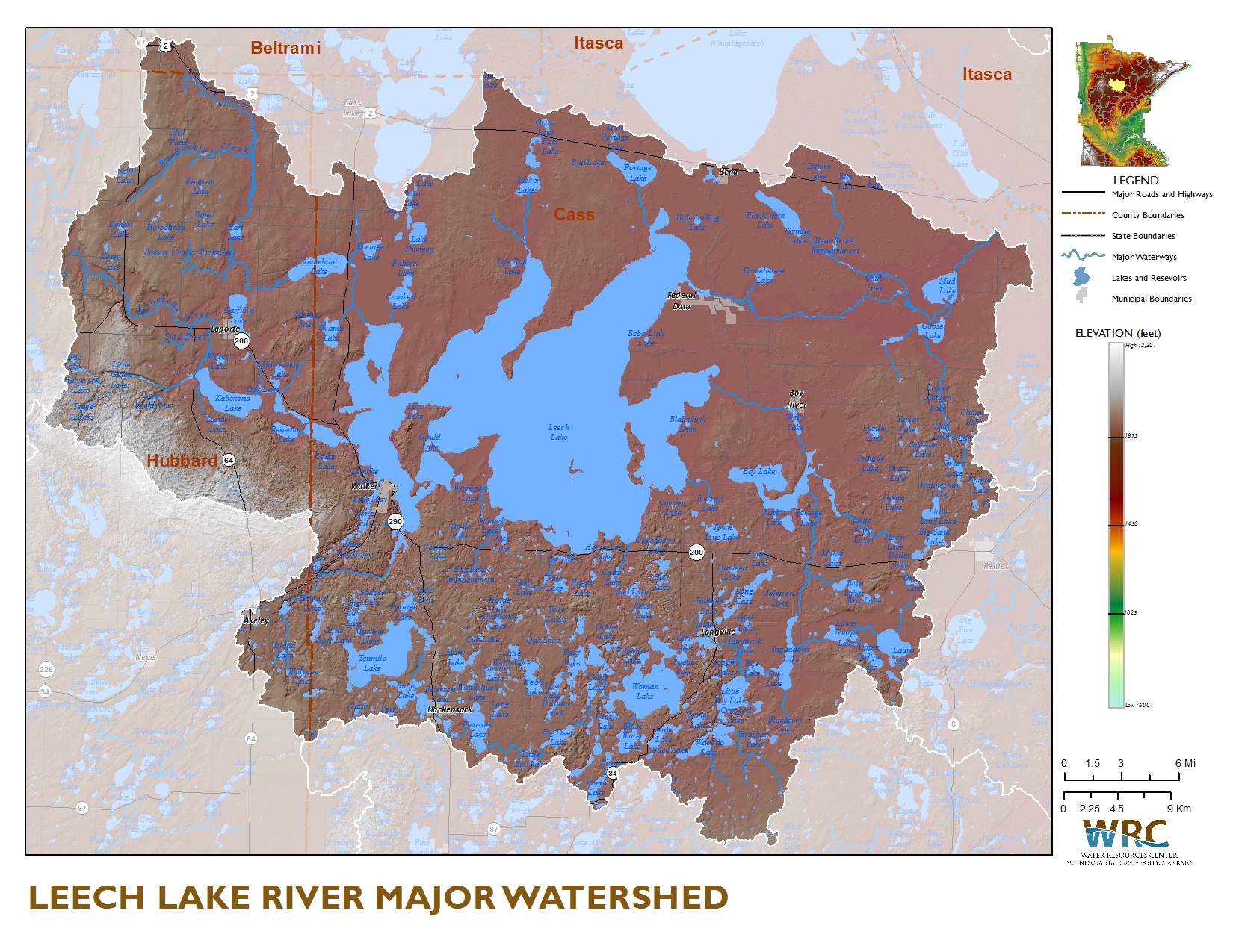 Leech lake river watershed minnesota nutrient data portal sauk river watershed map the leech lake sciox Image collections