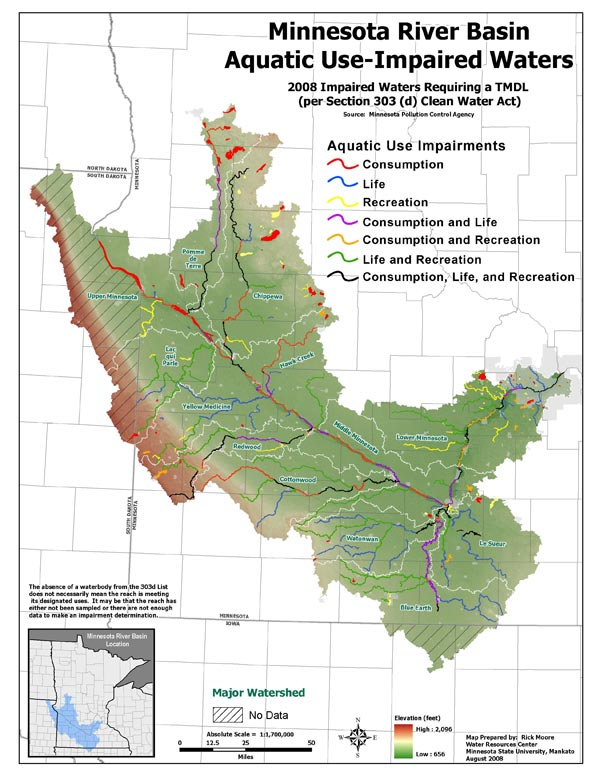 Minnesota River Basin Impaired Waters and TMDLs Minnesota River