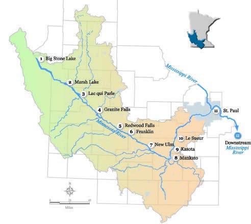 Minnesota River Virtual Tour Map Minnesota River Basin Data Center
